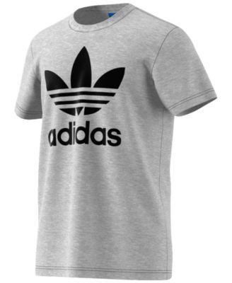 Adidas hombre 's Originals Trefoil T - shirt, MED GRIS Heather Pinterest