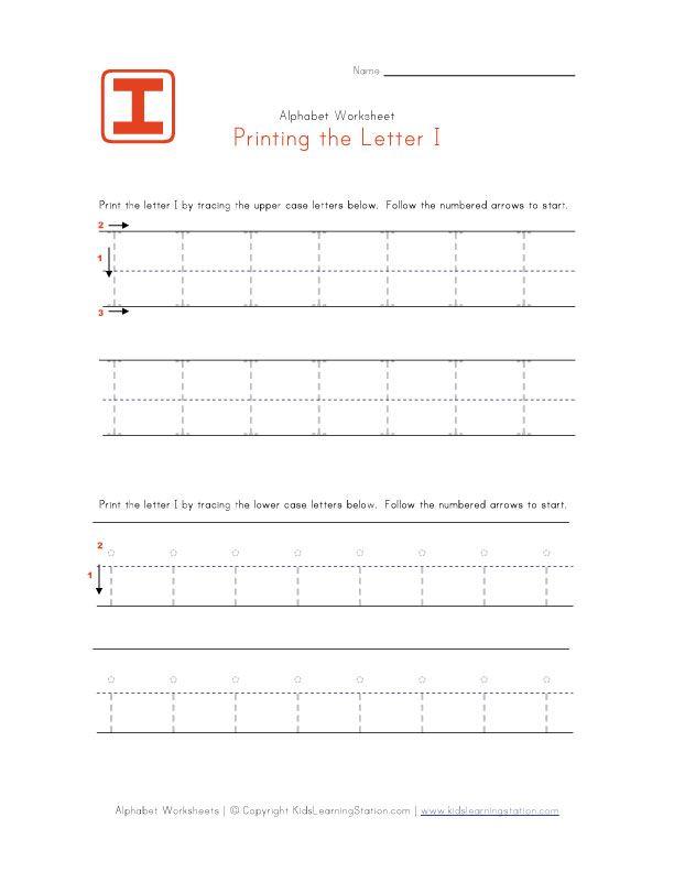 Traceable Letter I | Education | Pinterest | Preschool alphabet ...