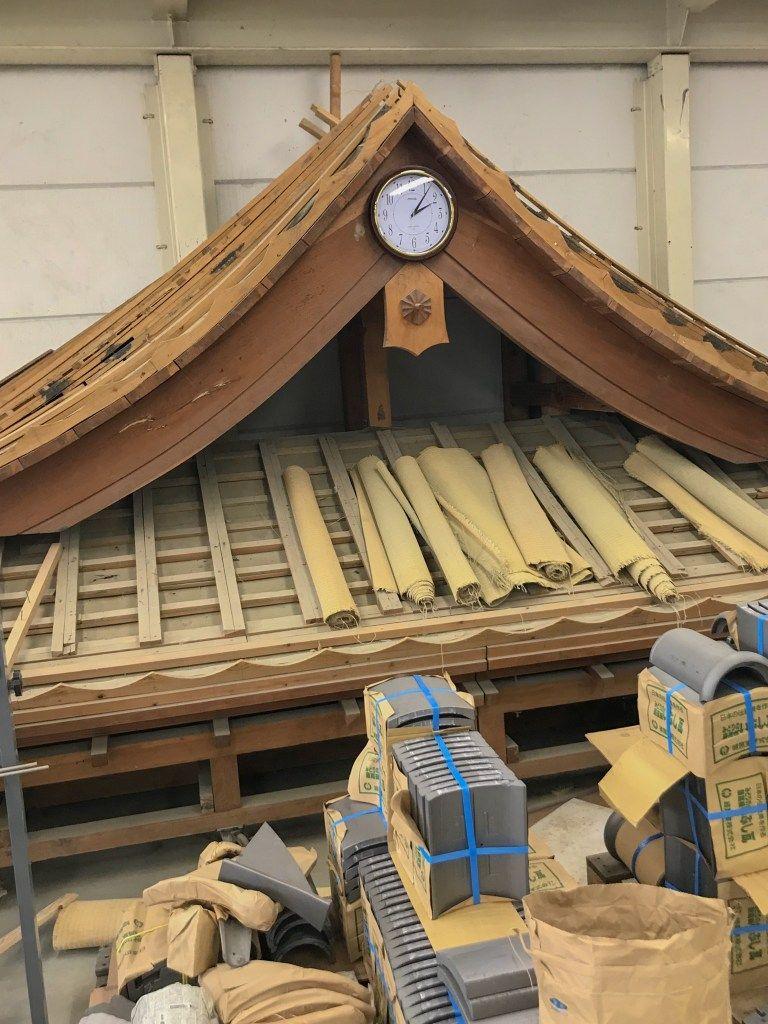 KAWARA Japanese Roof Building Blue Vagabond