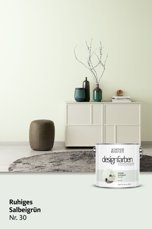 Designfarbe Ruhiges Salbeigrun Nr 30 Schoner Wohnen Farbe Schoner Wohnen Wohnen