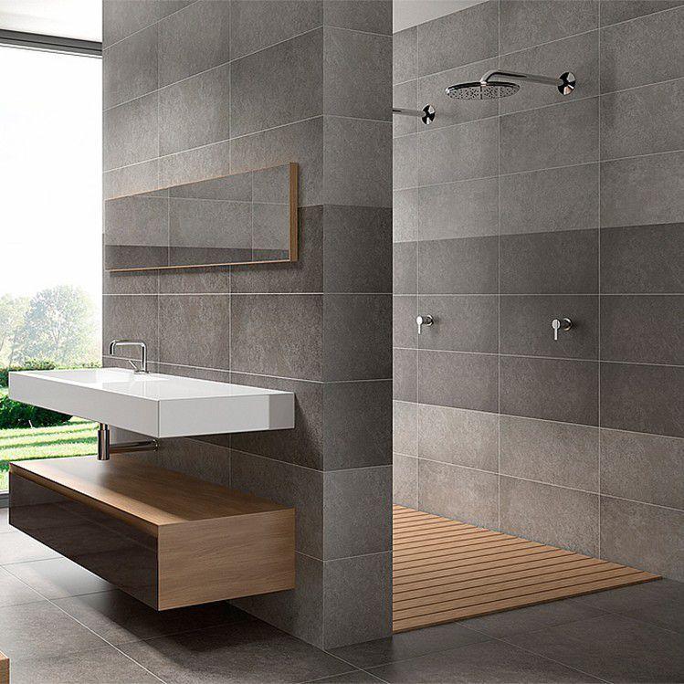 Pamesa Basic Wall Floor Tile Dark Grey Marengo 303x613mm Tiles And