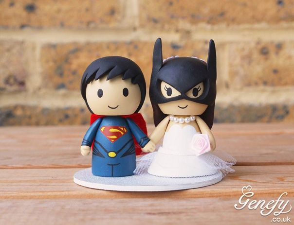 Gorgeous Geeky Cake Toppers Superman And Batwoman Wedding Topper Genefy Playground