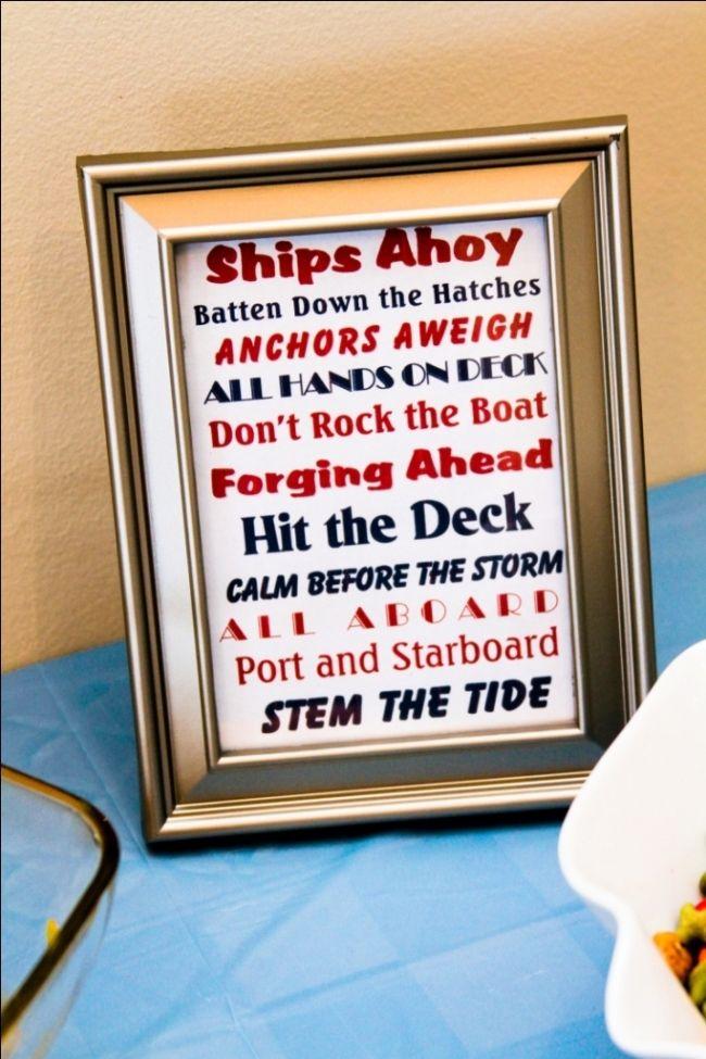 nautical themed boy baby shower
