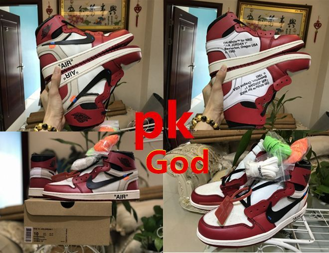 3419a85315eb very best PK God EXCLUSIVE OFF WHITE X NIKE AIR JORDAN 1 RETRO BEST VERSION AJ1  OW AA3834-101