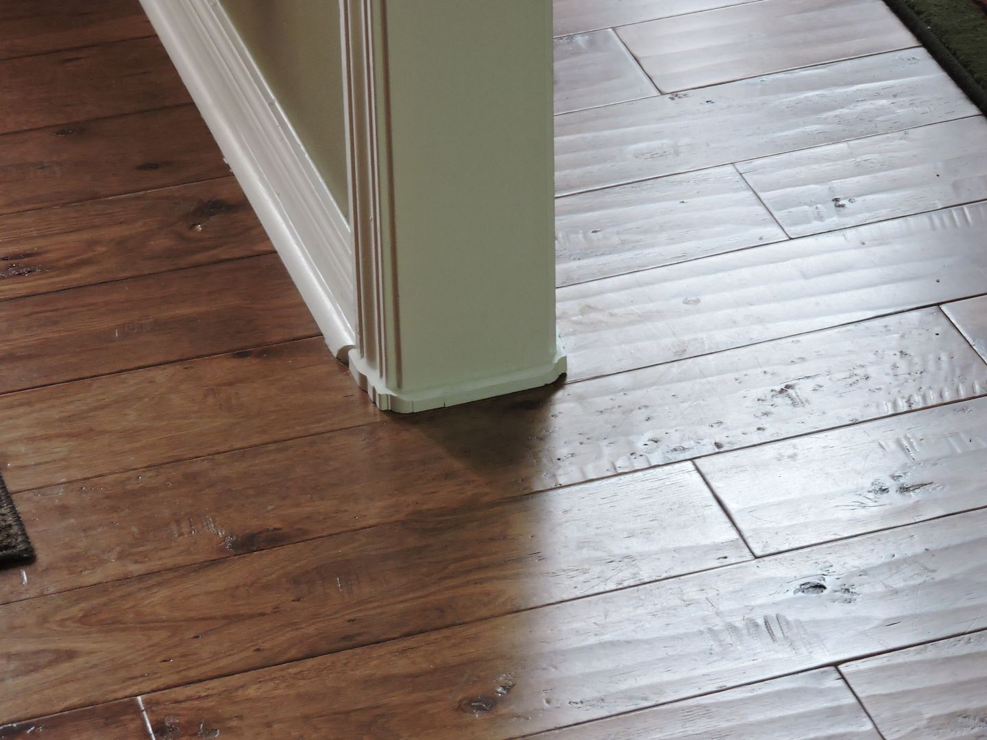Great Fix For Gaps Under Door Casings Casing Diy Flooring