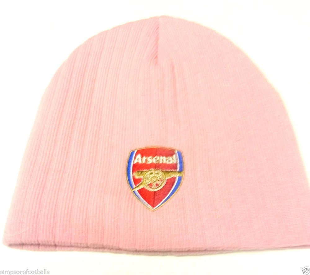 a76299c2dde67 Arsenal Fc Pink Beanie Hat Official Football Gifts