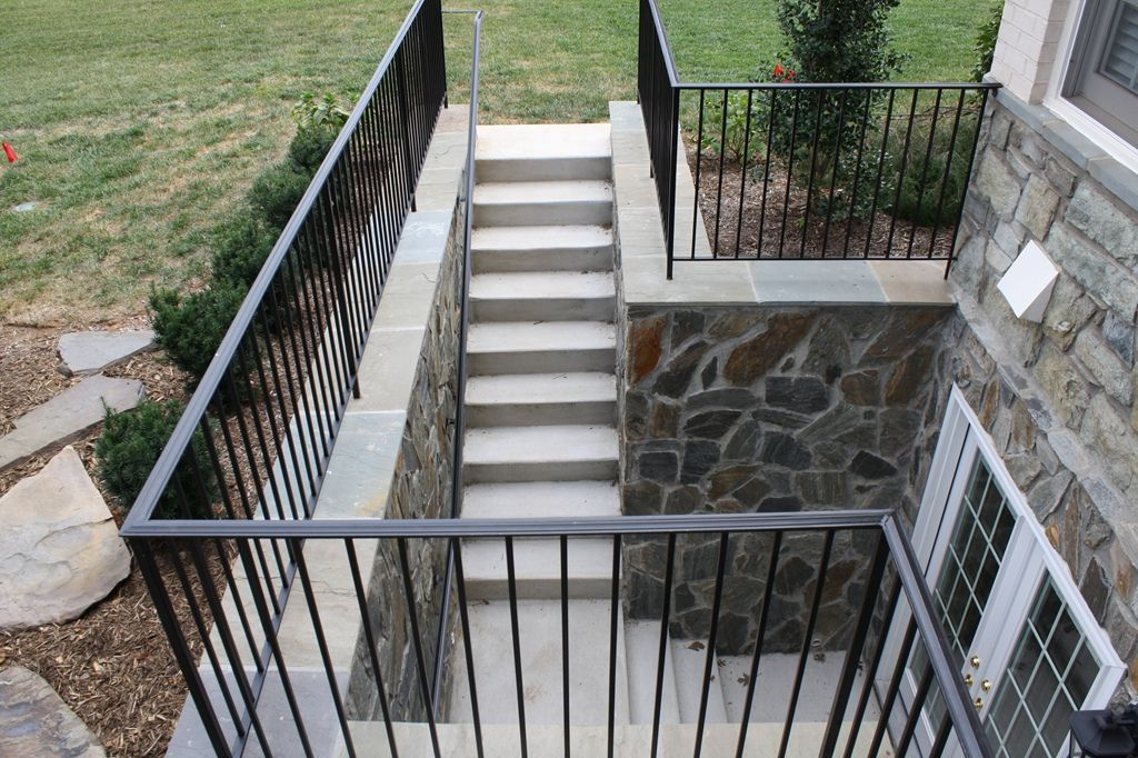 Lighting Basement Washroom Stairs: Egress Window And Doors