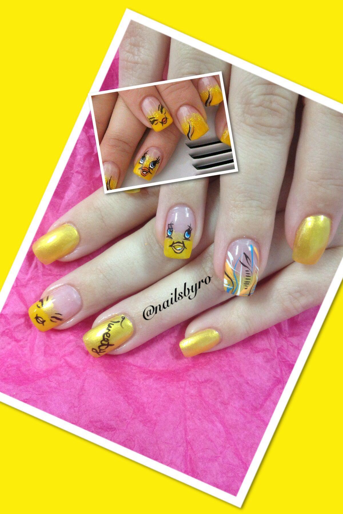 Tweety bird (With images)   Nail art designs, Nail art ...