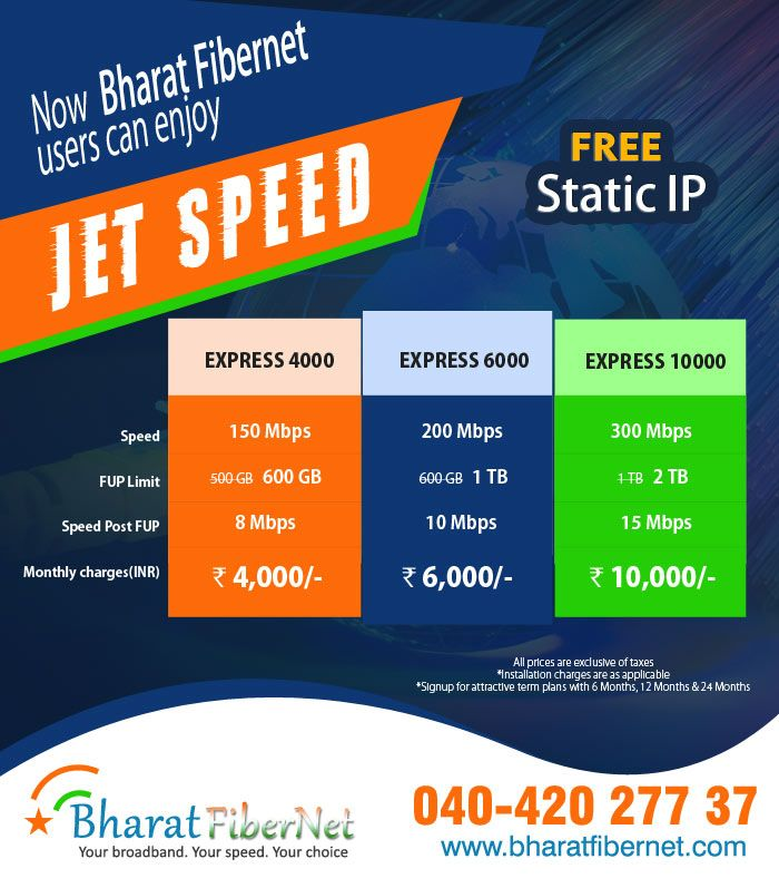 broadband plans in your city