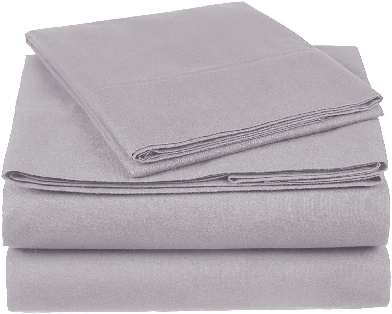 pinzon organic cotton sheet set twin xl dove grey top best spot