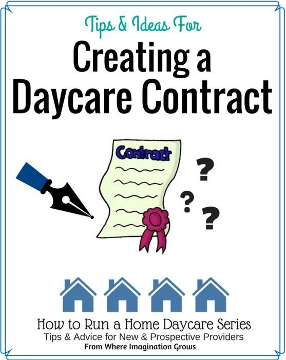 Creating a Home Daycare Contract Daycare contract, Childcare and