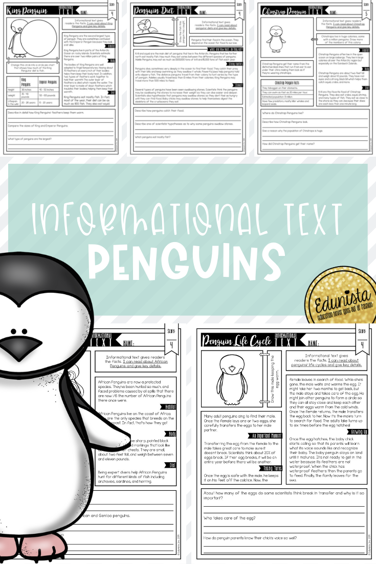 Are You Teaching Informational Texts About Penguins Or Text Features Check O Penguin Reading Comprehension Informational Text Teaching Reading Comprehension [ 1102 x 735 Pixel ]