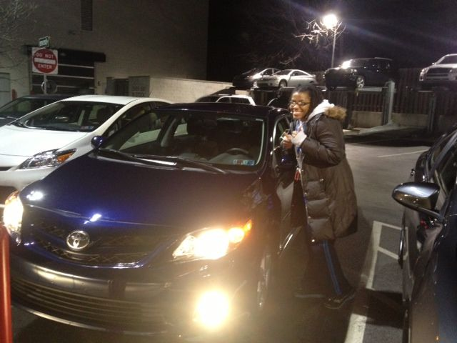 Congratulations to Aleia on your 2013 Toyota Corolla S from Salesperson Q Azad!