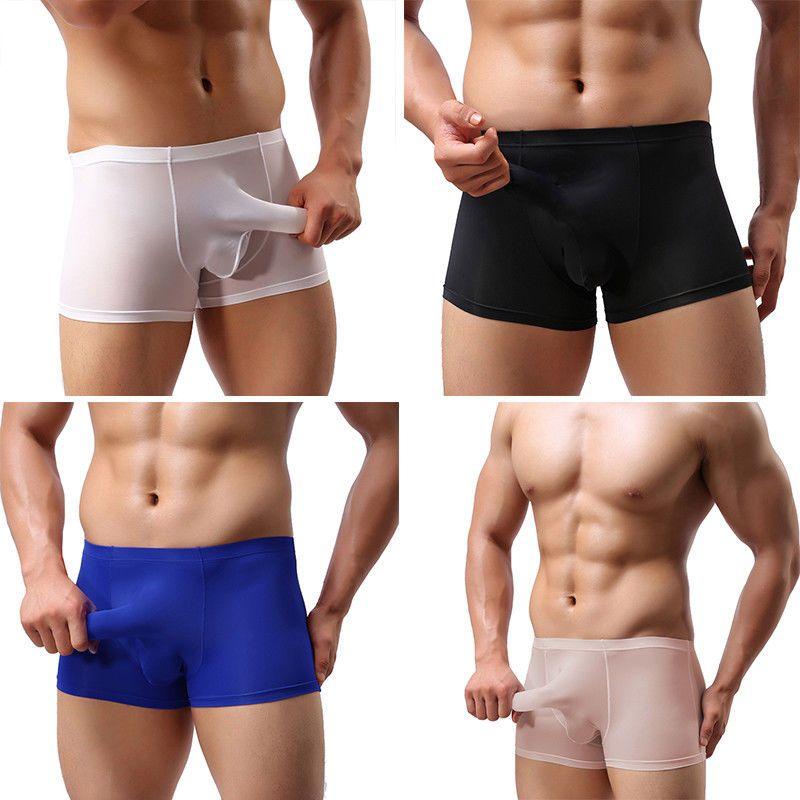73396ce6630e $3.95 - Mesh Sheer Mens Underwear Bulge Pouch Trunks Boxer Briefs Soft Shorts  Underpants #ebay #Fashion