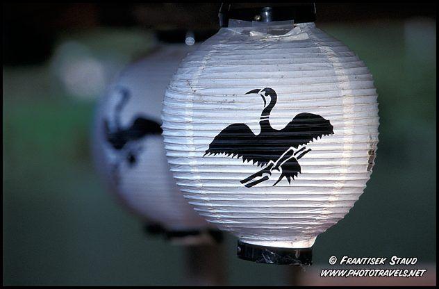 Cormorant depiction on a paper lantern  Ukai - Cormorant Fishing in Arashiyama, Kyoto, Japan by Frantisek Staud