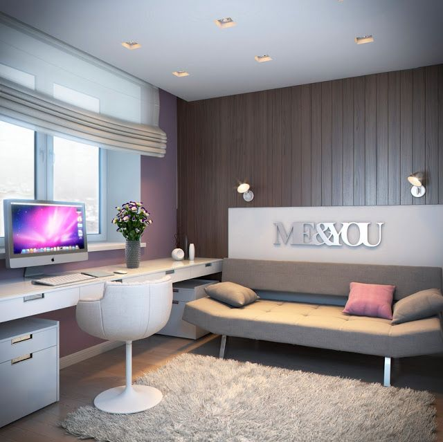 modern teenage bedroom for a girl Wohnideen fürs Schlafzimmer - moderne wandgestaltung wohnzimmer lila