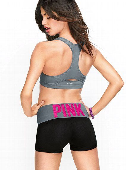 Victoria/'s Secret Yoga Shorts Pink Work Out Athletic Shortie Gym Sport Pants New