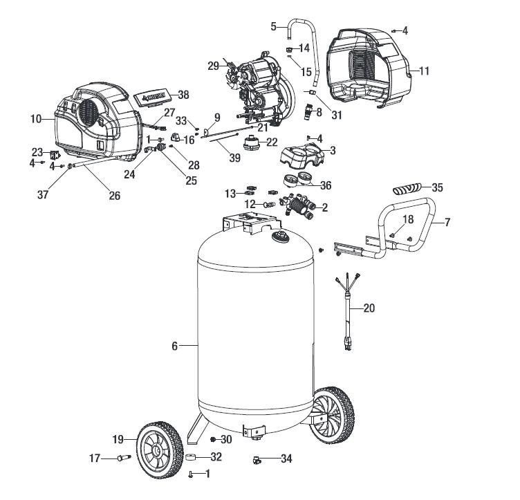 Husky C331h Air Compressor Parts Air Compressor Parts Air Compressor Portable Air Compressor
