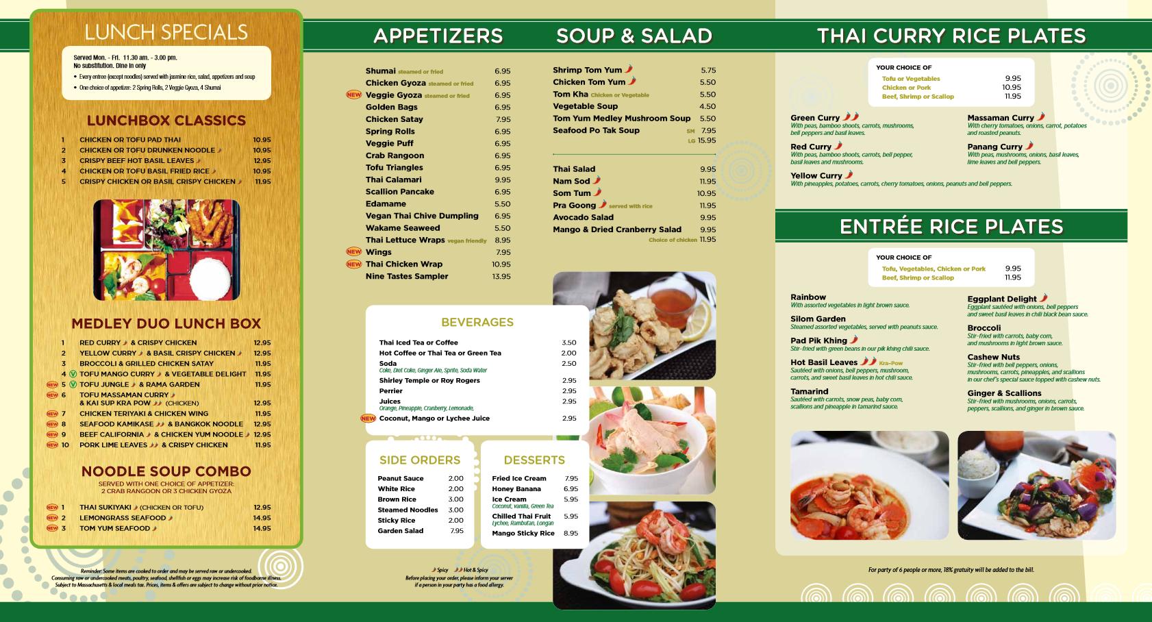 Nine Tastes Lunch Menu Order Online Www 9taste Com Thai Thaifood Food Orderonline Takeout Delivery Restaur Authentic Thai Food Thai Recipes Hot Spices