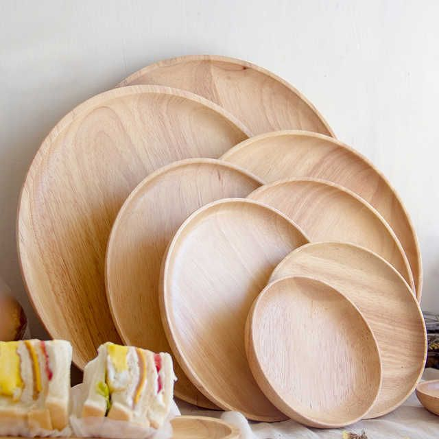 Source Different Size Round Wood Plate Bamboo Food Serving Dinner Plate Round Bamboo Dinner Plate On M Alibaba Com Tea Tray Dinner Plates Tableware Design