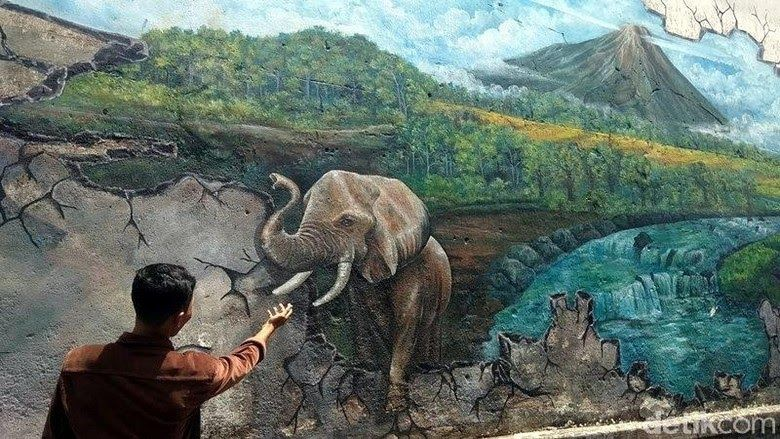 23 Gambar Lukisan Paling Keren Kreatif Tembok Lawas Di