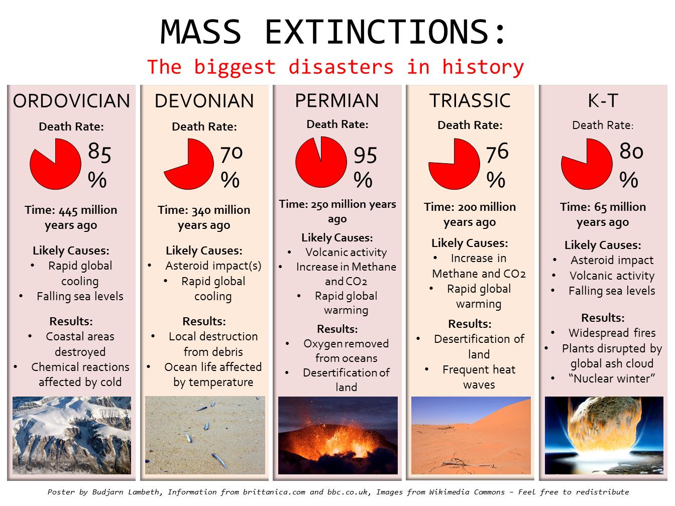 Resultado de imagen de Las 5 grandes extinciones