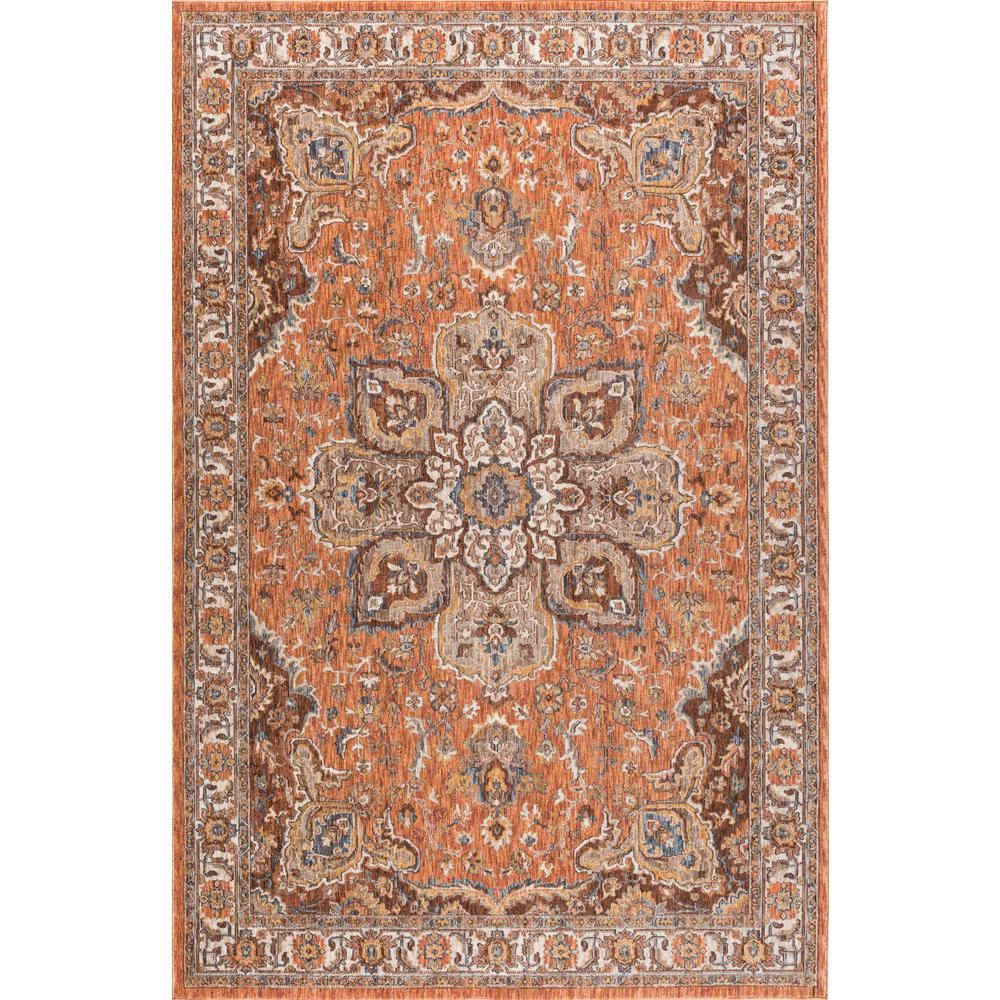 Tayse Rugs Fairview Brown 9 Ft X 13 Ft Area Rug Fvw3308 9x13