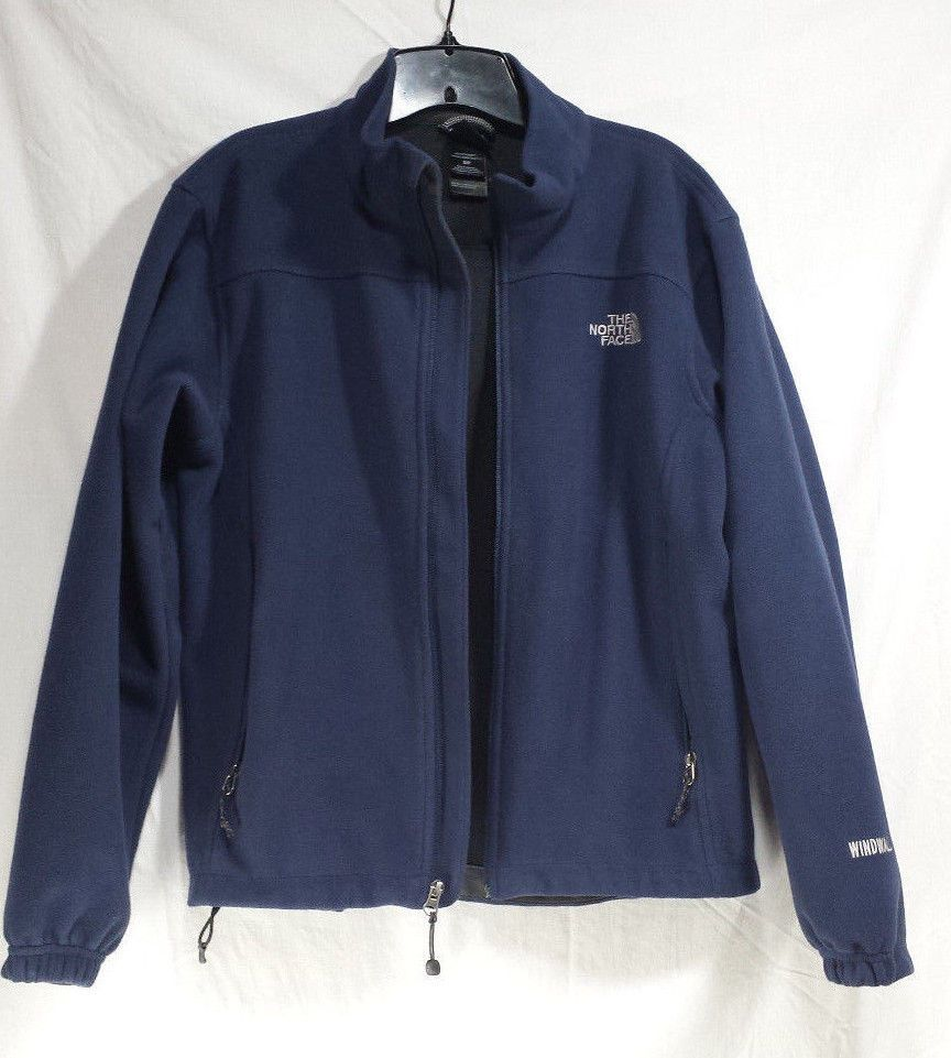 b805f1457d7 North Face Windwall Jacket Mens Small S Soft Shell Fleece Coat Full ...