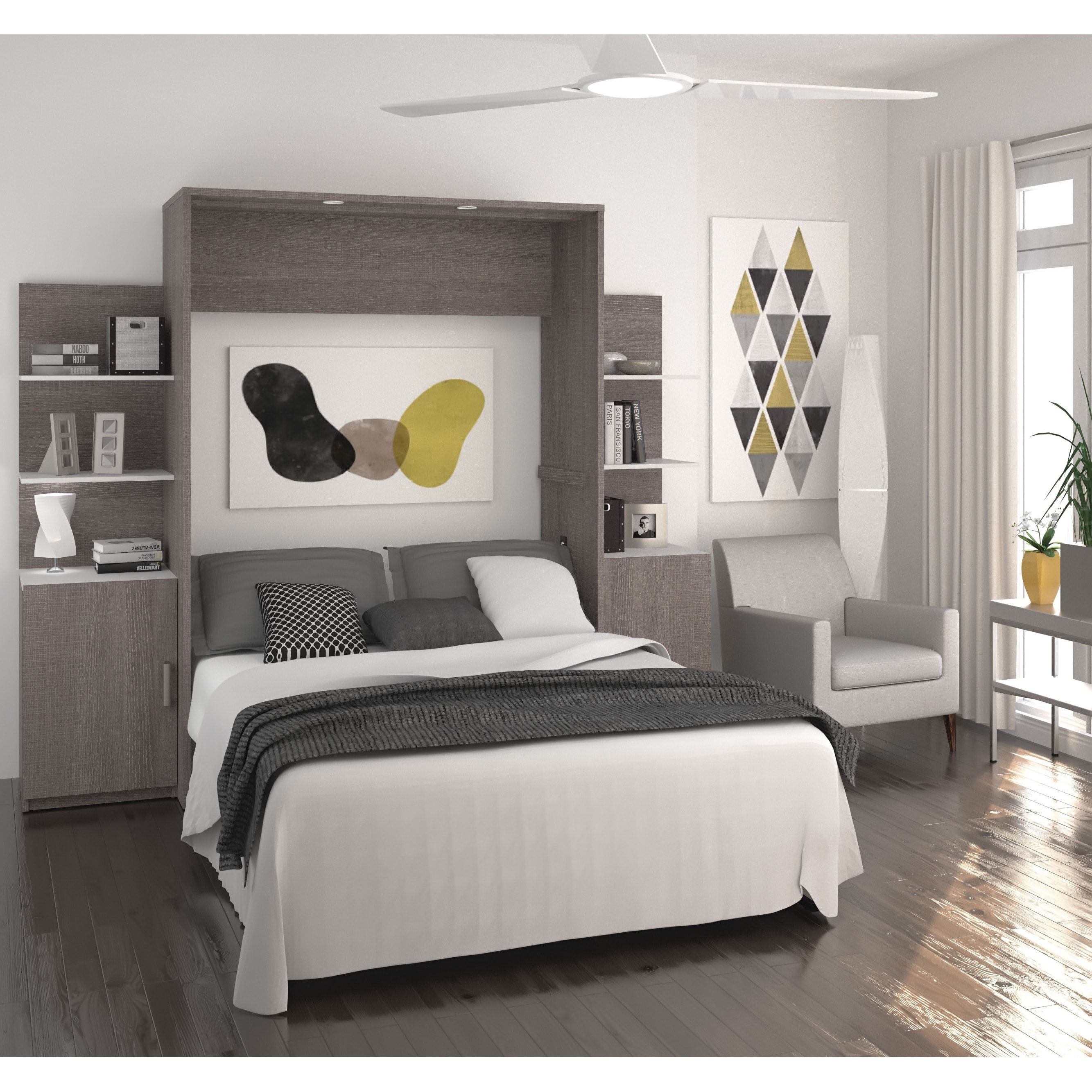 Cielo by Bestar Deluxe 98inch Full Wall Bed kit Free