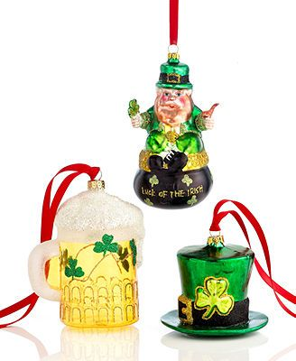 Holiday Lane Christmas Ornaments, Irish Collection