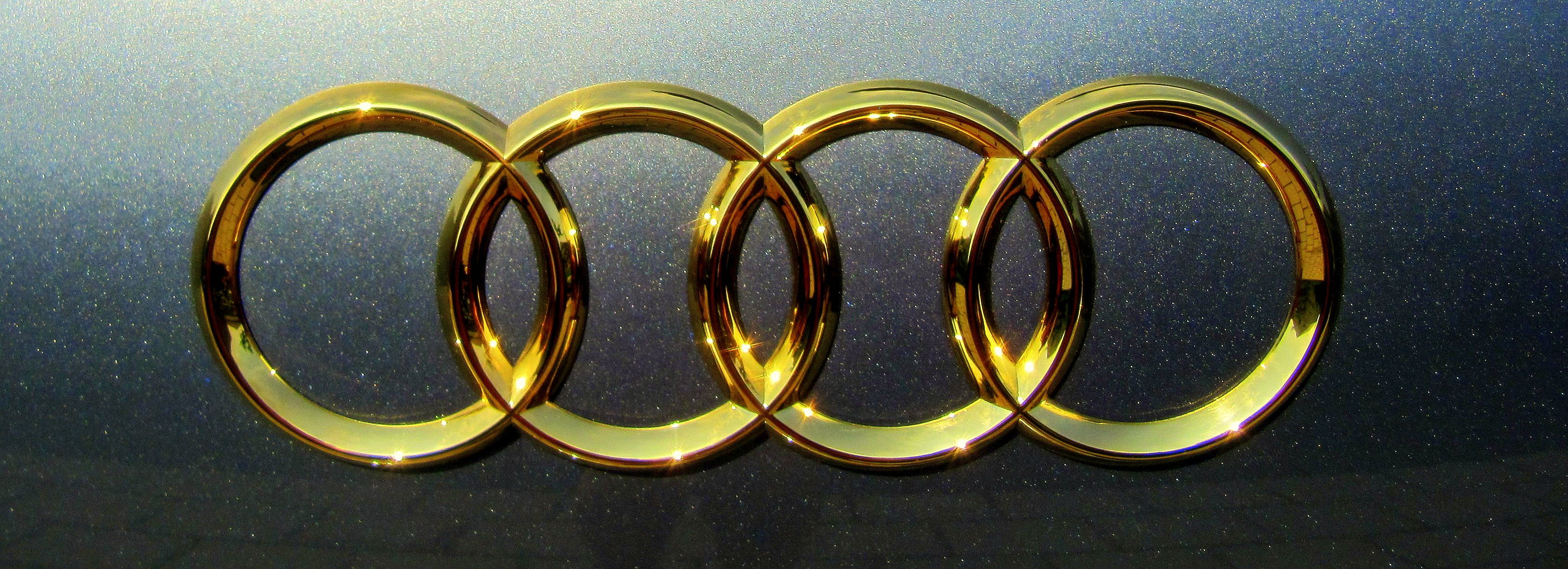 Logo Audi Upgrade To A6 Your Car May Also Get These Jewels Finish 24k Gold Treatment Cleaning Dechromized Gilding