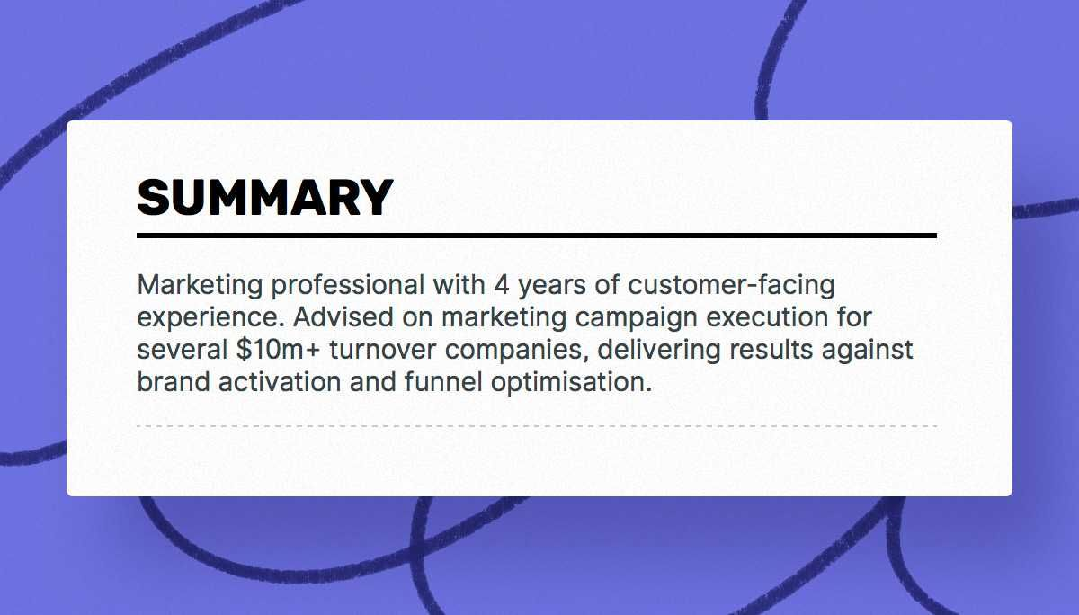 The best 2019 marketing resume example guide Resume