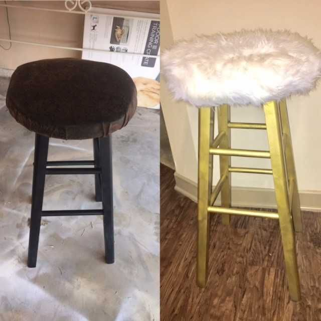 buy online 57051 649d7 Faux Fur Bar Stools | DIY/Crafts | Diy bar stools, Diy stool ...