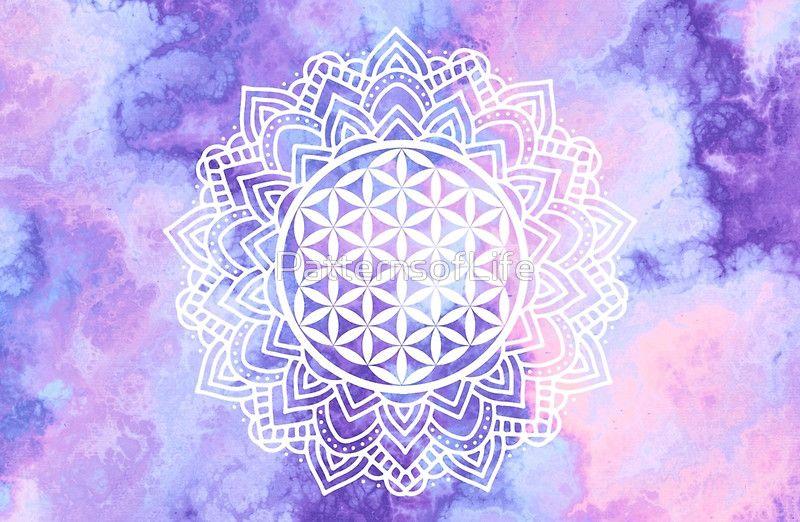 Flower Of Life Batik 3 Macbook Air 13 2015 By Mandala Of Life Flower Of Life Tapestry Vibrant Colors