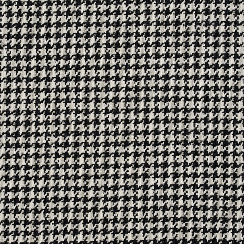 Onyx Black And White Houndstooth Tapestry Upholstery Fabric