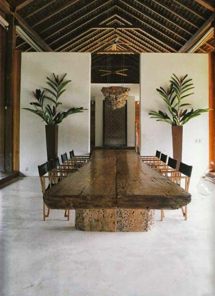 Holztisch Massiv Esszimmer Landhaus Gestaltung