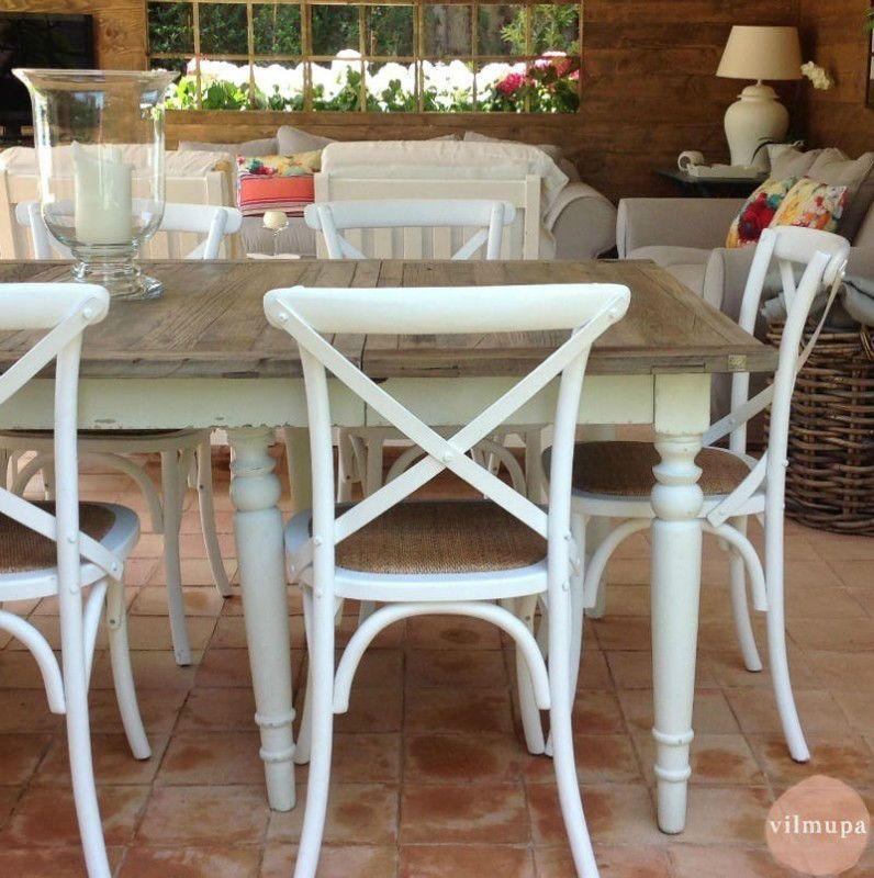Mesas de comedor rustico chic rectangulares, redondas y cuadradas ...
