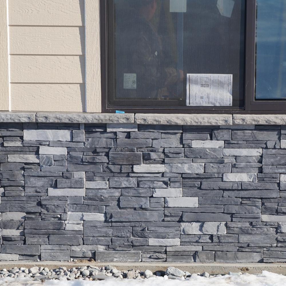 Adorn 23 5 In X 6 In Northern Gray Stone Veneer Siding Flats Ngflat The Home Depot Stone Veneer Exterior Houses Stone Veneer Siding Stone Veneer Exterior