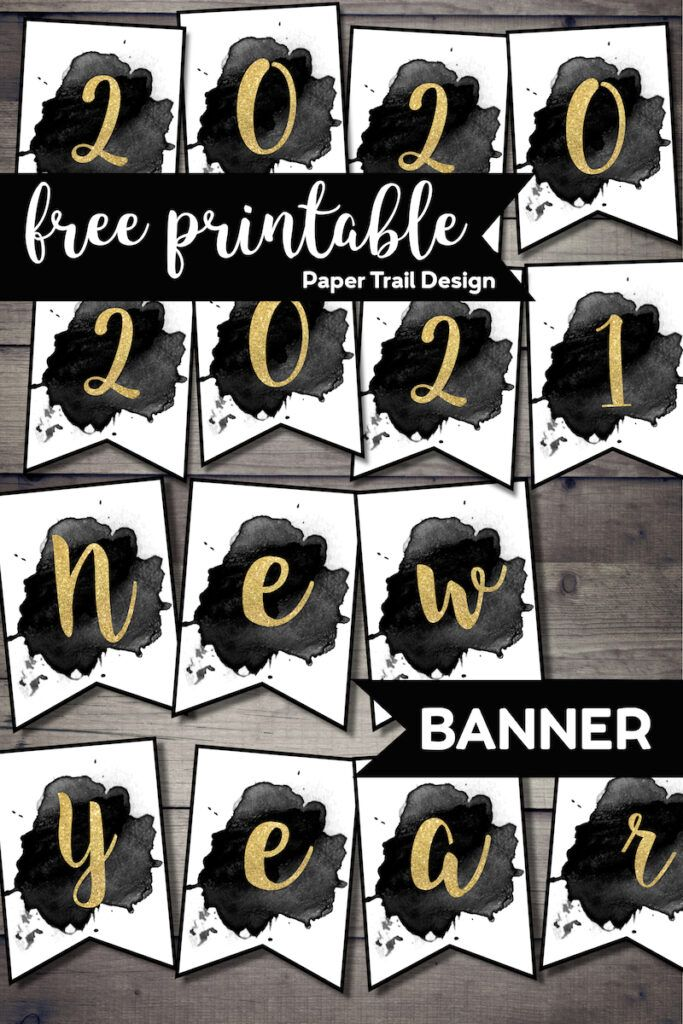 Free Printable Happy New Year Banner Happy new year