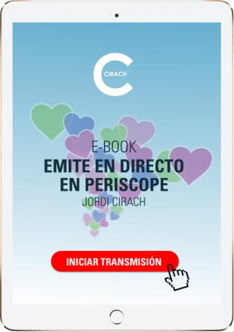 Jordi Cirach, formador en medios sociales, explica cómo funciona #Periscope. Aquí puedes bajarte su e.book gratis