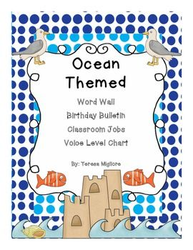 ocean themed classroom word wave wall birthday beach and classroom