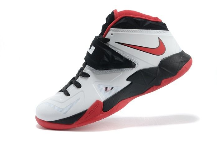Top Nike Zoom Lebron Soldier VII Basketball Shoes White Red Black for Sale,  Best Nike