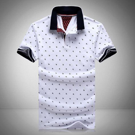 Nova marca polos mens impresso polo camisas 100% algodão curta manga  camisas polo estande casuais colarinho masculino camisa polo 4xl EDA234 em  Polo de Dos ... ab4077ca484cd