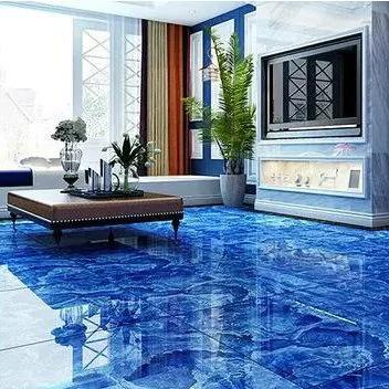 800x800 Beautiful Blue Color Porcelain Floor Tiles Metallic Epoxy Floor Tiles Design For Hall Floor Tile Design
