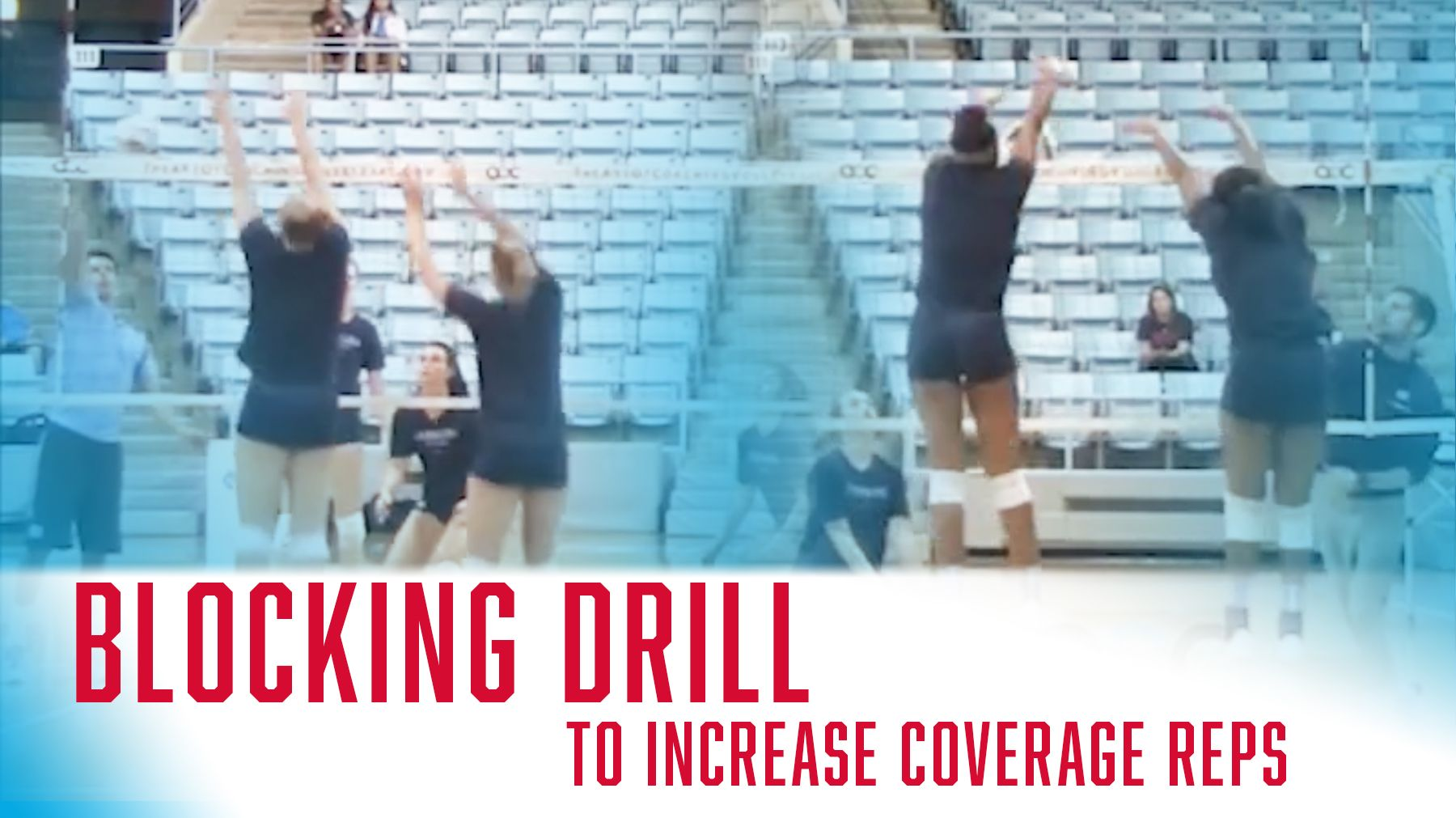 Blocking Drill To Increase Coverage Reps The Art Of Coaching Volleyball Coaching Volleyball Volleyball Training Volleyball Drills