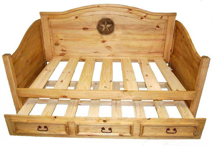 Trundle Daybed W Star Great Western Furniture Company Rustic