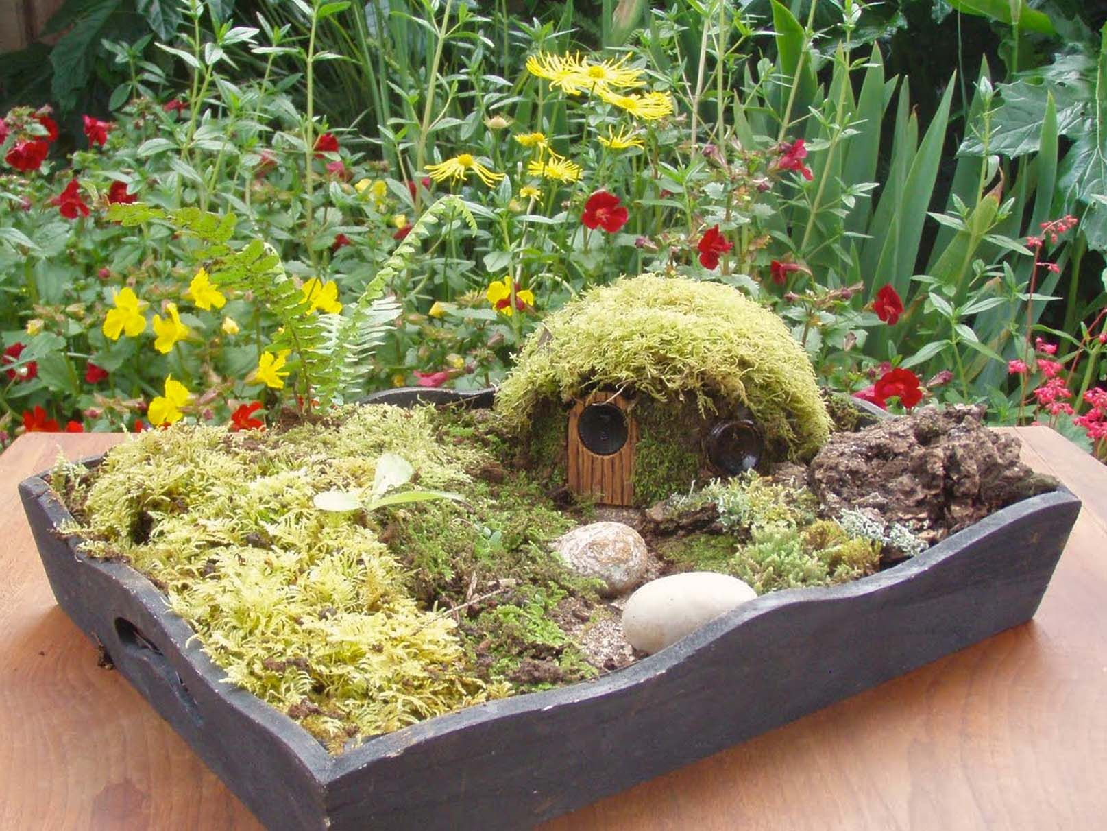 miniature garden, inspired by the book, \