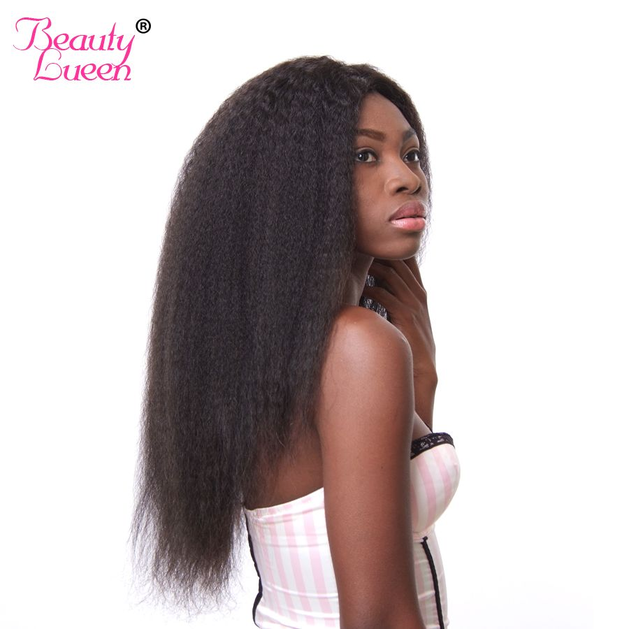 Beauty Lueen Remy Hair Extensions Brazilian Kinky Straight Hair