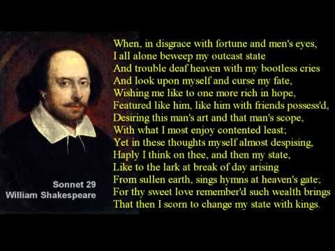 sonnet 29 by william shakespeare poem
