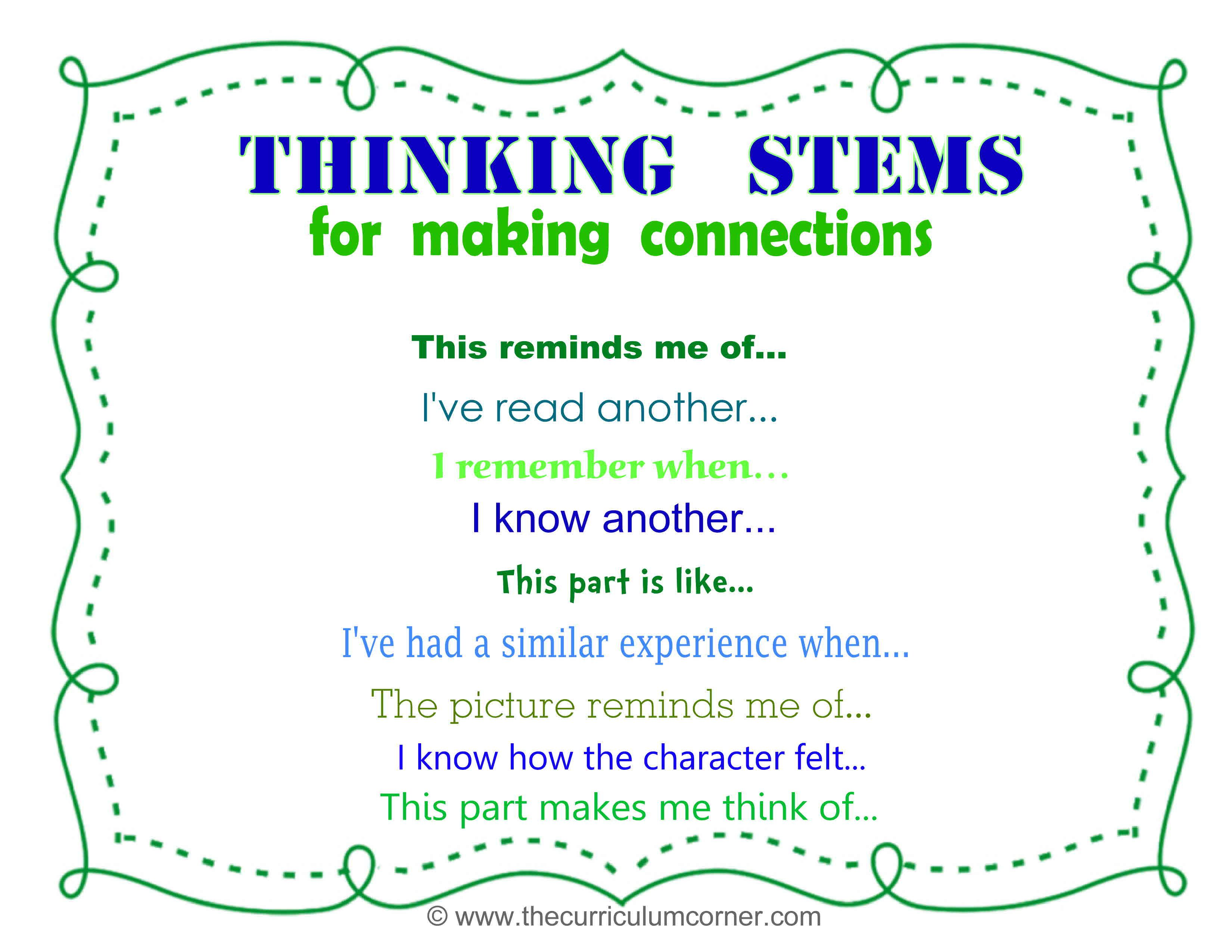 Close Reading Making Connections